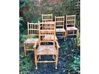 Six Country Dining Chairs