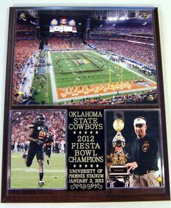 Oklahoma State Cowboys 2012 Fiesta Bowl Champions NCAA Big 12 Photo Plaque BCS