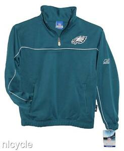 PHILADELPHIA EAGLES PULLOVER NFL REEBOK JACKET 2 SIDED KIDS M NWT