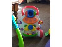 BABY ACTIVITY WALKER,ACTIVITY TABLE ,WITH ***FREE BABY RELAX CHAIR*****£20