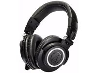 NEW Audio-Technica ATH-M50X Studio Monitor Professional Headphones - Black