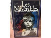 Framed Les Miserables Poster signed by Cast Imperial Theatre New York
