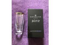 Dartington New in Box Crystal Vase with Swarovski Crystals