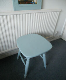 Duck Egg Painted Wooden Stool, Lamp Table, Bedside