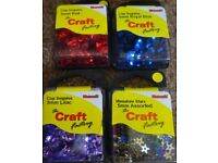New Cup Sequins 5mm Various Designs Only £1 a pack art and craft scrapbooking Card Making xmas gift