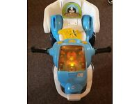 Kids outdoor motorbike - with remote control&,charger