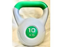 10KG Kettlebell Vinyl Free Weight Weights dumbbell weightlifting home workout gym fitness