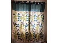 Dunelm leaf pattern curtains
