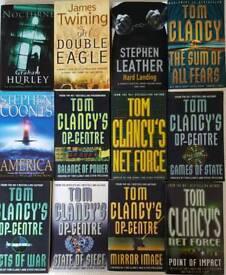 12 Mens novels \ paperback books