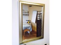 Large Rectangular Gold Mirror- Wall Mirror/ Bedroom Living Room / Gold Frame Shabby Chic / Antique