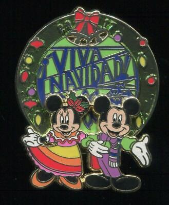 DLR Viva Navidad! 2017 Mickey and Minnie LE Disney Pin 125630 segunda mano  Embacar hacia Argentina