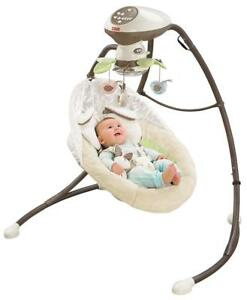 New Fisher-Price My Little Snugabunny Cradle N Swing