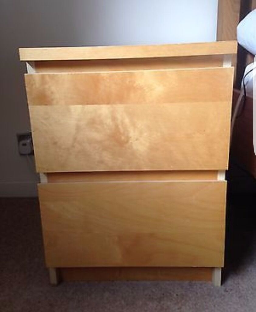Ikea malm bedside table collection asap in emersons for Ikea malm collection