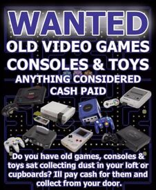 WANTED - Old Video Games and Consoles, SNES, NES, N64, GAMEBOY, SEGA, SATURN, MEGADRIVE, MEGA CD ETC