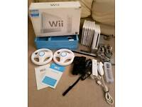 Nintendo Wii + 6 games inc mario kart + wii sports