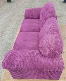 Corduroy 3 seater sofa