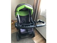Baby merc junior 3 in one pushchair, light green colour. I'm very good condition.