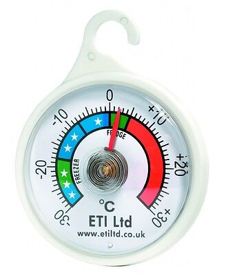 Dial Fridge/Freezer Thermometer/Kitchen Appliance - With Hanging Hook