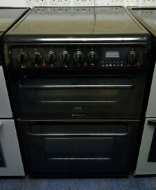 Black Hotpoint 60cm Ceramic Cooker - 12 Months Warranty - £200