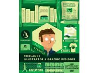Freelance Illustrator & Graphic Designer Services for Hire (Creative Content Agency)