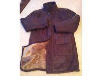 Men's Brown Faux Suede Winter Coat by Lee Cooper Size Medium