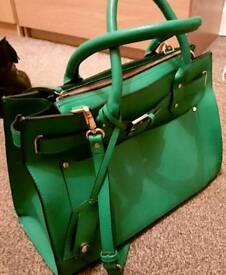 Green handbag, bag, women, business bag classic shoulder bag