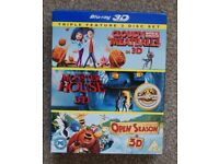 CHILDRENS BOX SET DVDs in 3D and Blue Ray