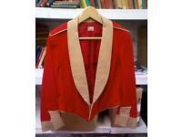Vintage red military jacket