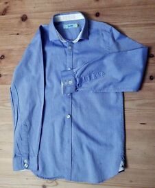 """Boy's Blue Ted Baker Shirt - age 9 (26"""" chest)"""