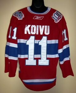 NHL HOCKEY JERSEY Montreal Canadians Koivu  #11 size: 52XL
