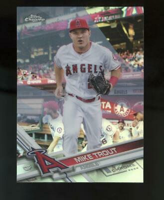 2017 Topps Chrome Refractor #200 Mike Trout