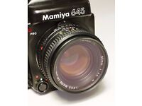 Mamiya 645 Pro Medium Format Camera Kit - includes three lenses + Polaroid back