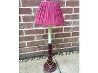 Burgundy Table Lamp