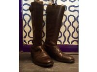 belstaff trailmaster motorcycle ladies boots size 6 virtually unworn - amazing festival condition.