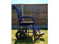 Foldable wheelchair for sale.