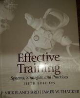 Effective Training 5th Edition