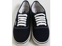 Ladies Size 3.5 Navy Blue Vans Trainers - Open to Offers