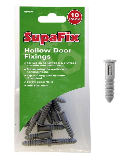 SupaFix Hollow Door Fixings Pack 10