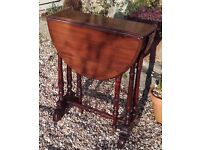 Drop leaf small side table