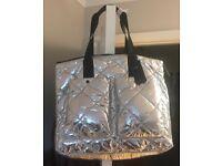 BNWT M&S Silver Tote Bag