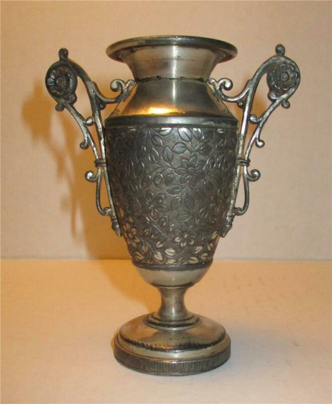 Antique James W. Tufts Triple Plate Victorian Vase Urn Scrolls # 1041 Boston