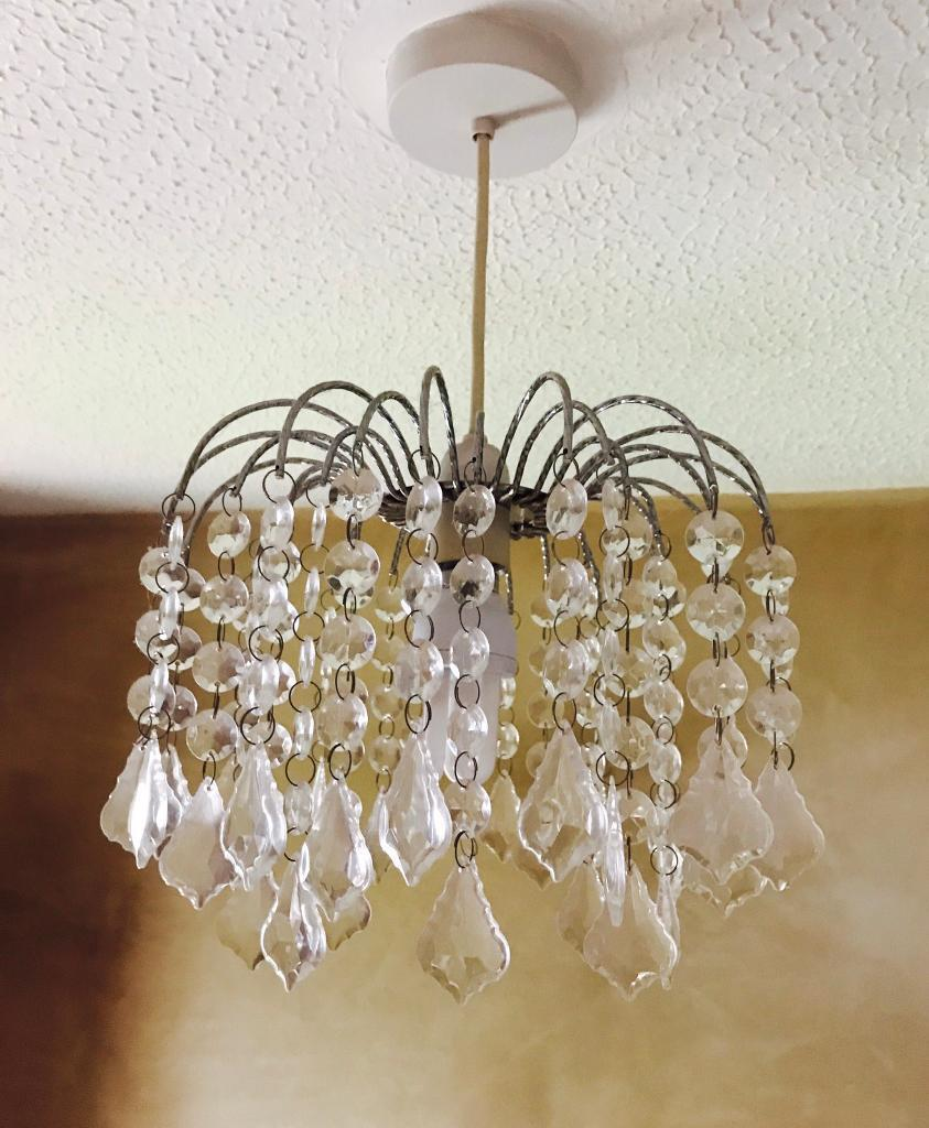 Two Dunelm Crystal Jewel Droplet Lamp Shades Light Lighting Home In Dawley Shropshire Gumtree