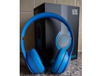 Beats Solo 2 Wireless On Ear Headphones, Blue/Grey - Immaculate Condition