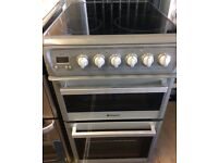 HOTPOINT 50cm WIDE ELECTRIC COOKER DOUBLE OVEN WITH GRILL FREE DELIVERY AND WARRANTY