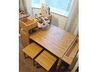 Amazing Woodquail bamboo colour children's arts and crafts table and chairs. Must see!
