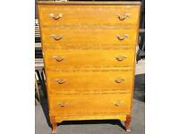 Vintage chest of five drawers