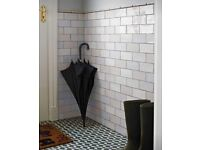 Rustic vintage style Craquele Wall Tiles - two colours Approx 2.4m2