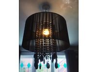 Stunning black lamp shade