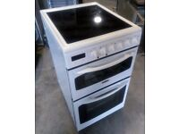 Tricity Bendix DSIE343W 500mm Electric Double Oven Cooker With Ceramic Hob
