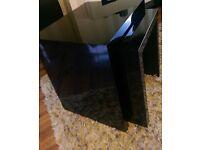 NEXT Nest of black high gloss tables